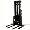 "Stacker with Powered Lift - Adj Forks, Adj Legs, 137"" Model: SL-137-AA a"