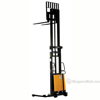 "Stacker with Powered Lift - Adj Forks, Adj Legs, 137"" Model: SL-137-AA c"