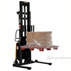 "Stacker with Powered Lift - Adj Forks, Adj Legs, 137"" Model: SL-137-AA e"