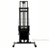 "Stacker with Powered Lift - Adjustable Forks/ Adjustable Support Legs Forks Raise up to 150"" SL-150-AA b"