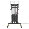 "Powered Lift - Power Drive Stacker - Adjustable Forks/ Adjustable Support Legs Forks Raise up to 63"", SL-63-AA-PTDS"
