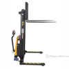 "Powered Lift - Power Drive Stacker - Adjustable Forks/ Adjustable Support Legs Forks Raise up to 63"", SL-63-AA-PTDS c"