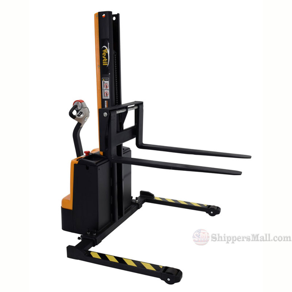 "Narrow Mast Stacker, Pwr. Lift & Drive 62""H Model: SNM15-62-AA"