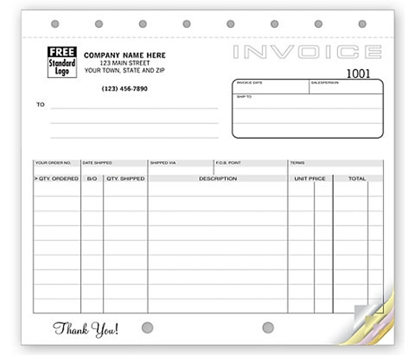 Classic, Small Shipping Invoices - 2 Parts/Duplicate